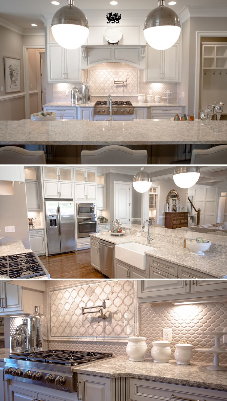 Quartz Countertops In The Beautiful Berwyn Design Add Depth And Movement To  This Elegant Kitchen,