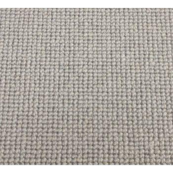 Manx Natural Shades Plain Clay 50% Wool 50% Polypropylene Grey Loop Carpet