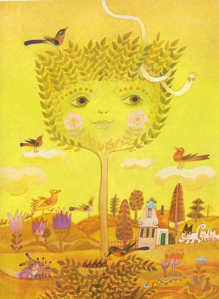 Illustration by Josef Palecek from the book Darek (by Libuse Palecokova)