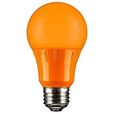 Sunlite 80147-SU Orange LED Light Bulb, Medium Base - A19/3W/O/LED