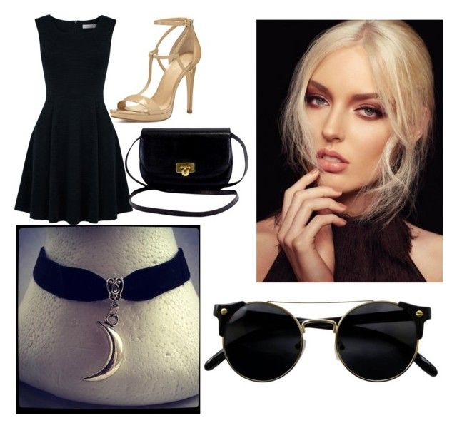 """""""Black"""" by cosmina-styles-alina on Polyvore featuring Charlotte Tilbury, MICHAEL Michael Kors and Oasis"""