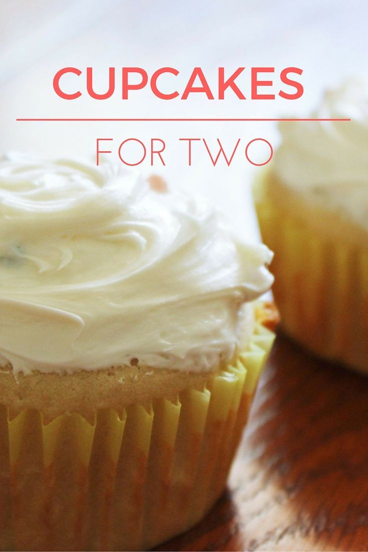 Cupcakes for Two! Don't need a full batch of cupcakes? How about cupcakes for two!? This is great if you're running low on ingredients but still need to satisfy a sweet tooth!:
