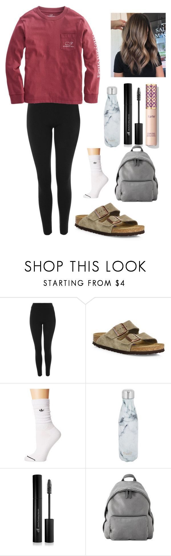 """""""Chill school outfit"""" by lagr on Polyvore featuring Topshop, Birkenstock, adidas Originals, S'well, Forever 21 and STELLA McCARTNEY"""