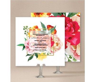 Bright Blooms Wedding Invitations - ON SALE!