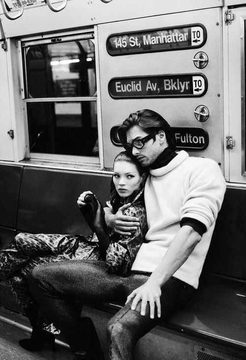 Kate Moss and Marcus Schenkenberg (The Revolution), New York, 1992