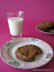 Lakrids og hvid chokolade cookies