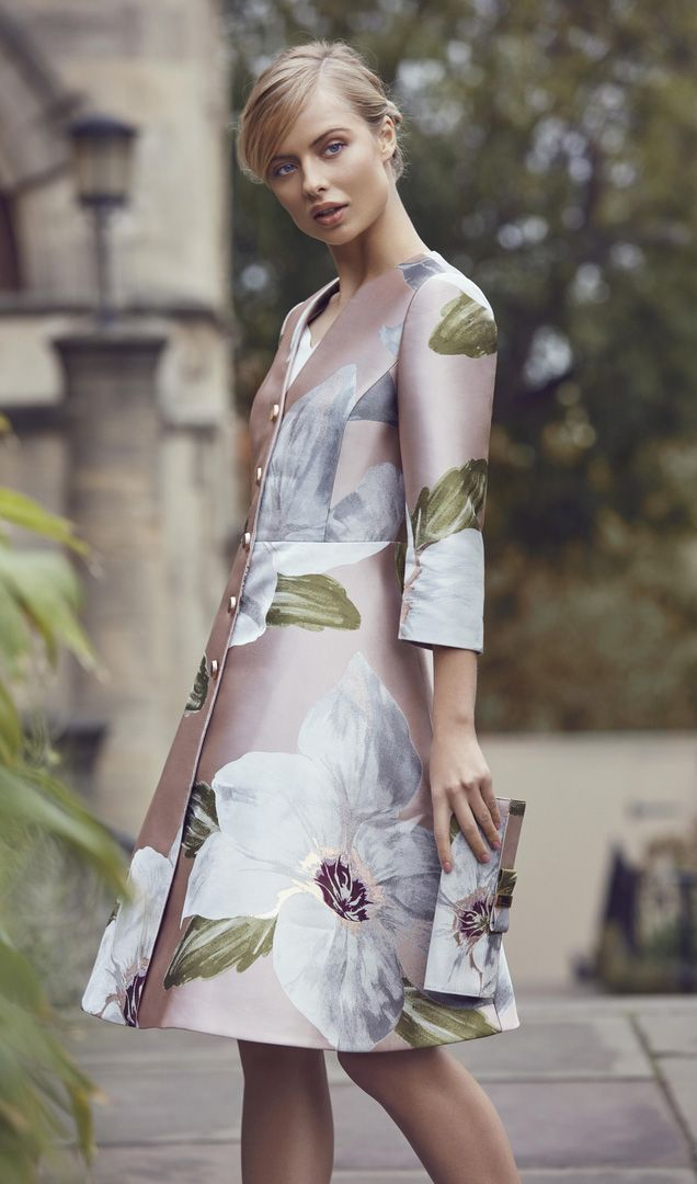 TIE THE KNOT: Ted's jacquard dress and matching coat make the perfect wedding guest outfit #WedWithTed