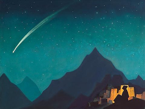 Nicholas Roerich - Star of the Hero (painting, 1936)