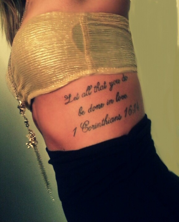271 best images about tattoo font ideas on pinterest for Bible verse rib tattoos