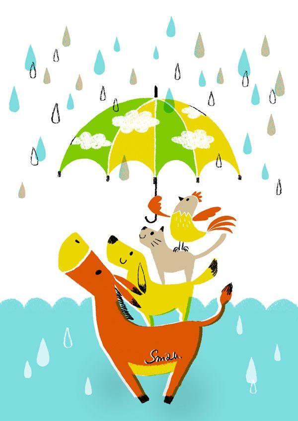 I love rain! Aline