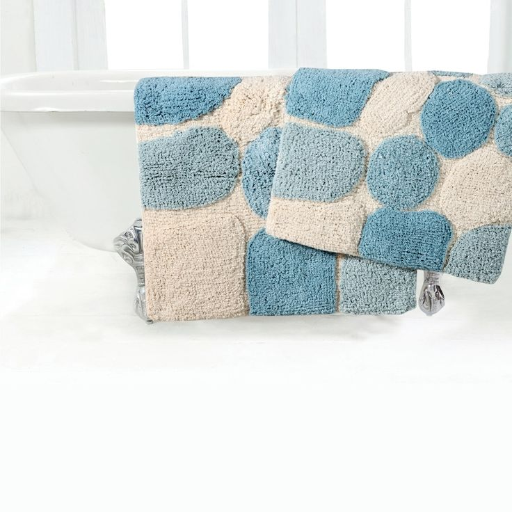 Chesapeake Merchandising, Inc Rockway Pebbles 2-piece Bath Rug Set with Bonus step out mat