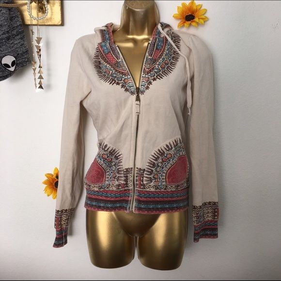 Aztec zip up jacket Has a very small hole in the hood Jackets & Coats