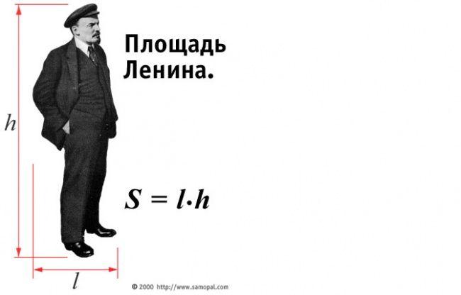 Только неграмотный человек на вопрос «Как найти площадь Ленина?» отвечает: «Длину Ленина умножить на ширину Ленина». А грамотный знает, что надо взять интеграл по поверхности.