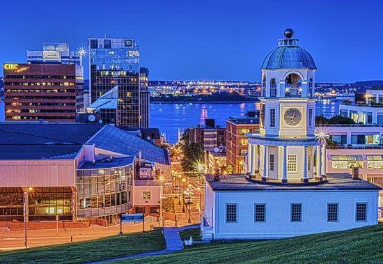 Citadel Hill Dusk, Halifax, Nova Scotia, Canada.