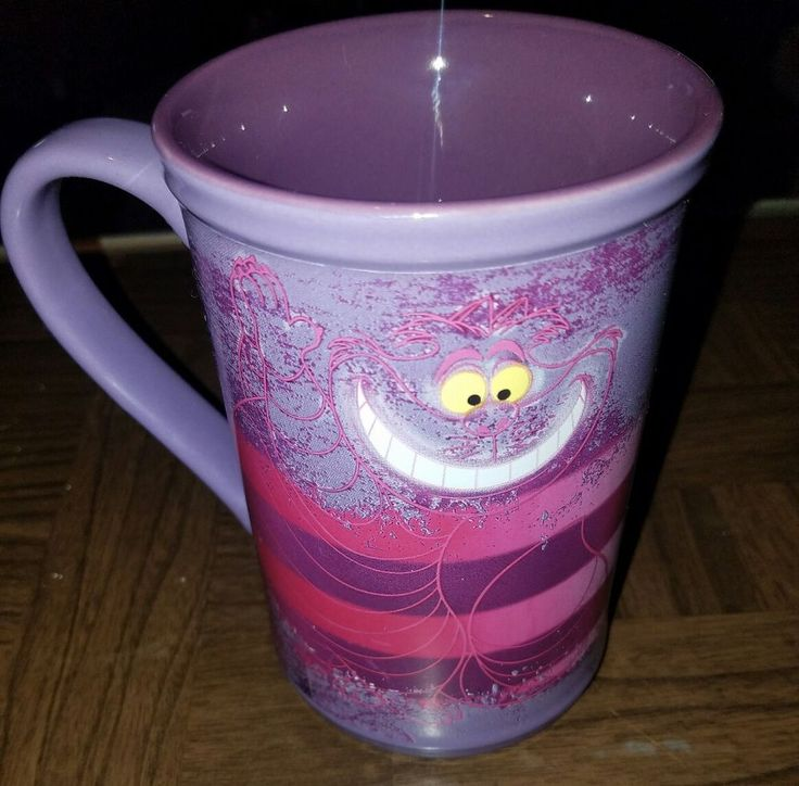 Disney Store CHESHIRE CAT Purple Coffee Cup Mug 24 OZ Alice in Wonderland Cup  | Collectibles, Disneyana, Contemporary (1968-Now) | eBay!