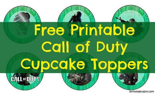 Free Printable Call Of Duty Cupcake Toppers With Images Call