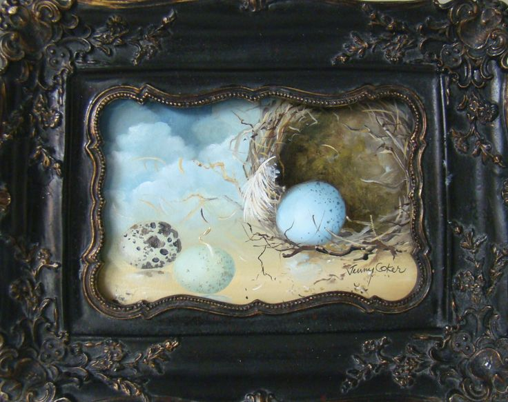 "Nestlings No.92 ""Blended Family"" Oil on board www.jennycoker.com"