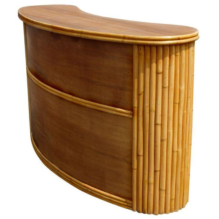 Paul Frankl Style Tropitan Bamboo Bar