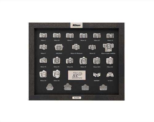 New NIKON 100th Anniversary Camera Pins Badge Set Collective Items Japan Rare