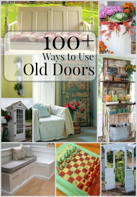 100+ Ways to Use Old Doors   @Remodelaholic #diy #project #doors #upcycle #repurpose