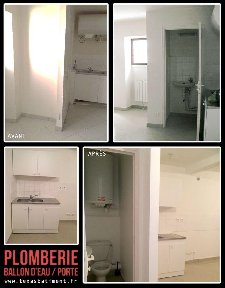 • Déplacement du ballon d'eau de la cuisine vers les WC • Condamnation de la porte des WC de la cuisine • Création d'une nouvelle ouverture pour les WC __________TEXAS BÂTIMENT__________ France - Paris 01.41.81.02.90 - 06.22.75.15.27 texasbatiment@orange.fr