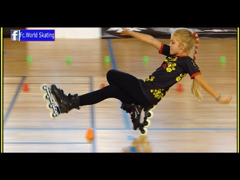 Fantastic little girl ! the best talent in the world 2016 Rollerblade Freestyle Slalom dancing usa - YouTube