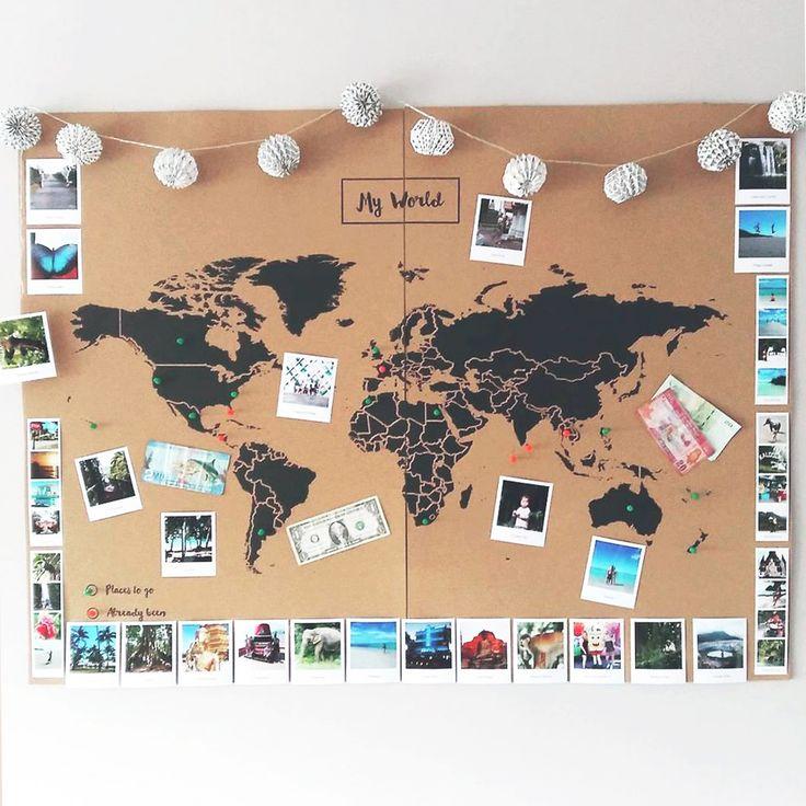Mapamundi de Corcho – Mapa Político Mundo – Woody…