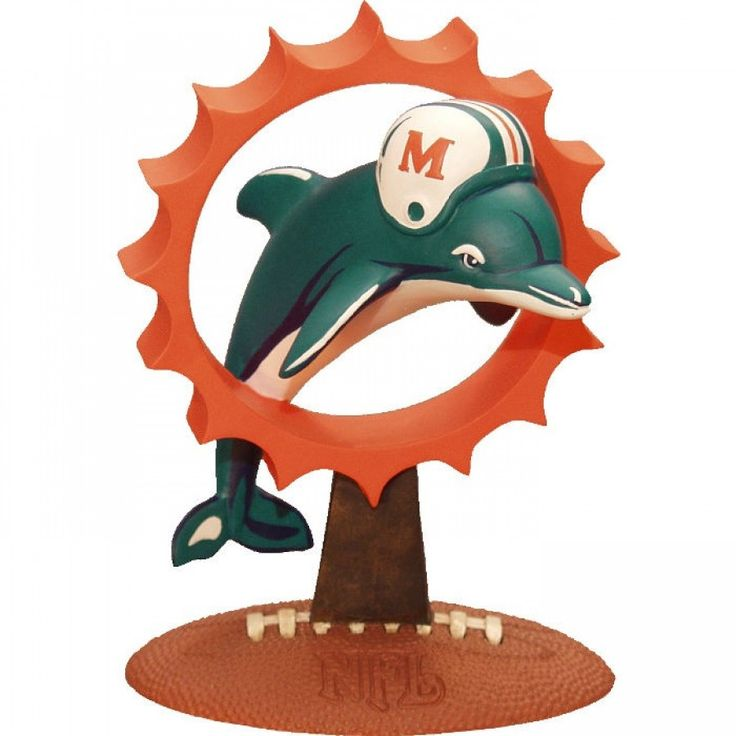 The Memory Company Miami Dolphins 3D Logo Figurine - NFL-MIA-200