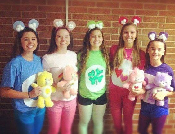 diy care bears halloween group costume idea - Halloween Group Costume Themes