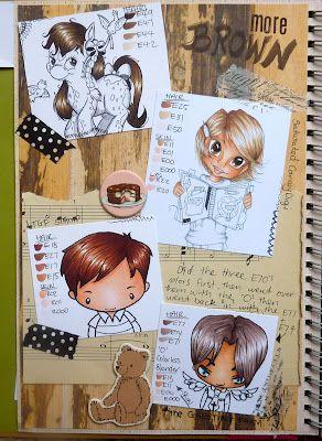 brown: Copic Hair, Blog Hop, Hair Coloring, Hair Colors, Coloring Copic, Smash Blog, Brown