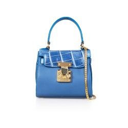 KHB07  #designerhandbag #genuinepython #bluehandbag