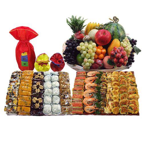 확대보기한아름 정성 이바지 세트 특1호 상품가격   :415,000 할인가격   :335,000 상품구성   :모듬 떡 특대(6kg) ,모듬전(3kg),과일 ,정종 상품정보   :신행 후에 시댁 또는 처갓집에 인사를 드릴때에 가장 기본적인 이바지 음식 입니다 .이바지 음식은 개별 상품을 보시고 받으시는 분께서 선호하시는 음식을 선택 하시는 것이 좋습니다 .개별 상품의 내용은 DIY 세트를 살펴 보신후에 결정 하시는 것이 좋습니다 정종은 서비스 상품 입니다