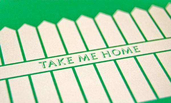 Home postcards. Illustrated lyrics from the Edward Sharpe & The Magnetic Zeros song 'Home' by designer Chris Hannah.
