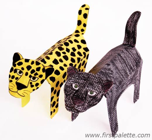 Color the printable big cat black to come up with a black panther. Make spotted wild cats like the leopard, jaguar or cheetah by coloring the animal yellow ...