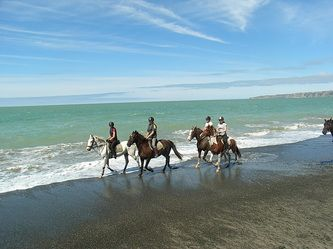 See the real New Zealand the natural way by riding horseback through some of the most spectacular scenery including riding through glacier fed rivers with stunning mountain backdrops and turquoise beaches. Operating all year round with a variety of rides and abilities catered for, you are guaranteed a personable and enjoyable experience within small riding groups or private tours. Great at Matakauri Lodge & Cape Kidnappers.