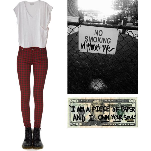 Untitled #113 by violent-eyes on Polyvore featuring Humanoid, Forever 21, Dr. Martens, Punk and grunge