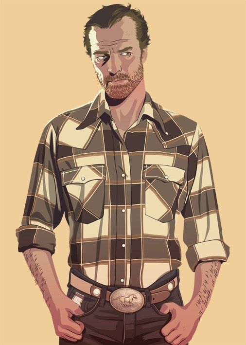 """""""Ser Jorah Mormont"""" #GoT #GameOfThrones: Tokyo-based French artist Mike Wrobel has given nearly every Game Of Thrones character a '80s or '90s makeover"""