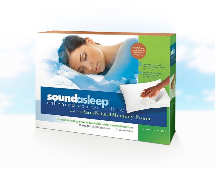 SoundAsleep comfort pillow package.