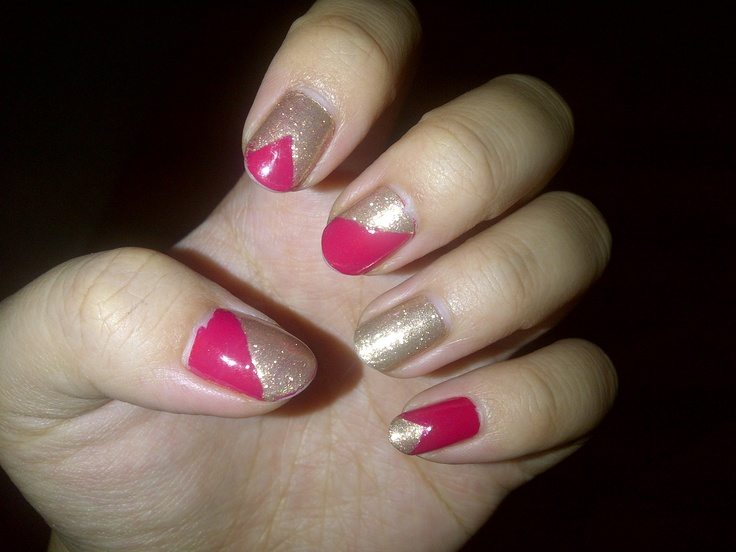 gold and red nail :p