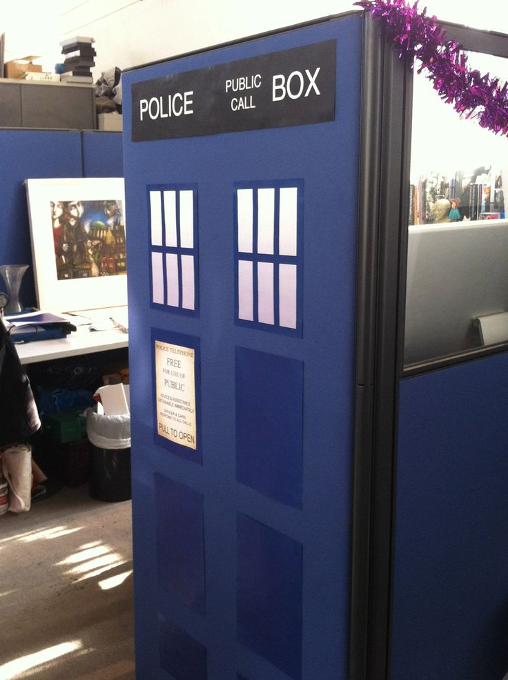 Turn Your Cubicle Into A Tardis No Directions But It S