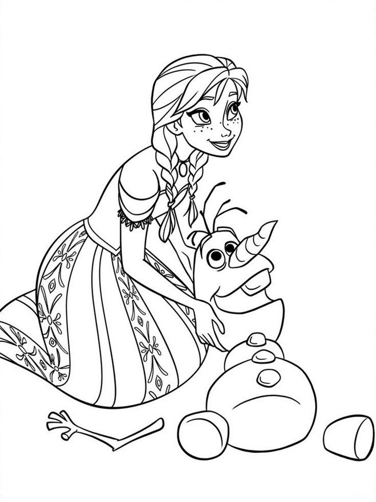 Coloring Pages Disney Princess Frozen : 17 best Ľadové kráľovstvo images on pinterest