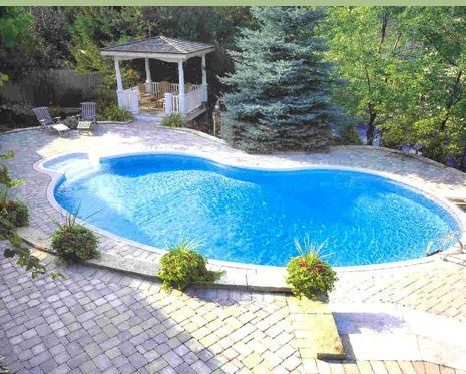 43 best pool designs with hardscapes! images on pinterest | pool ... - Inground Pool Patio Ideas