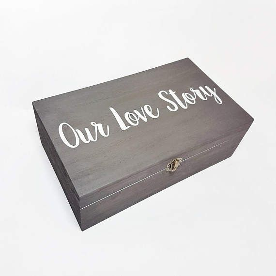 Our Love Story Memory Box  Wooden Box  Proposal by MakeMemento