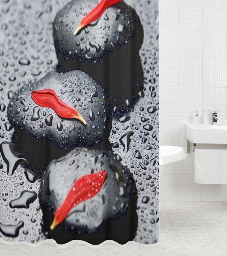 Duschvorhang, viele schöne Duschvorhänge zur Auswahl, hochwertige Qualität, inkl. 12 Ringe, wasserdicht, Anti-Schimmel-Effekt (Asia, 180 x 200 cm): Amazon.de: Küche & Haushalt