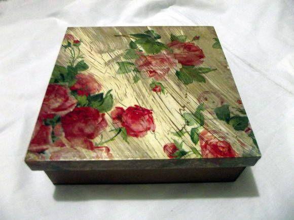 Caixa multiuso com divisórias - floral