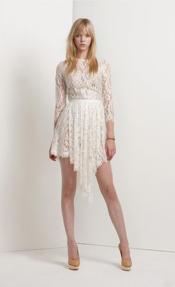 Serpent dress in ivory