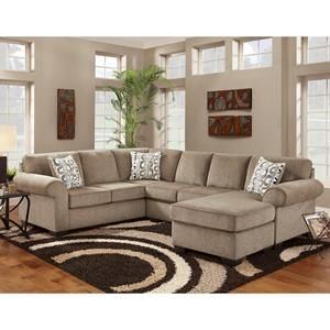 3-Piece Sectional in Jesse Cocoa | Nebraska Furniture Mart