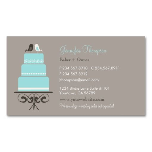 371 best bakery business cards images on pinterest bakeries birds and cake business card cheaphphosting Gallery