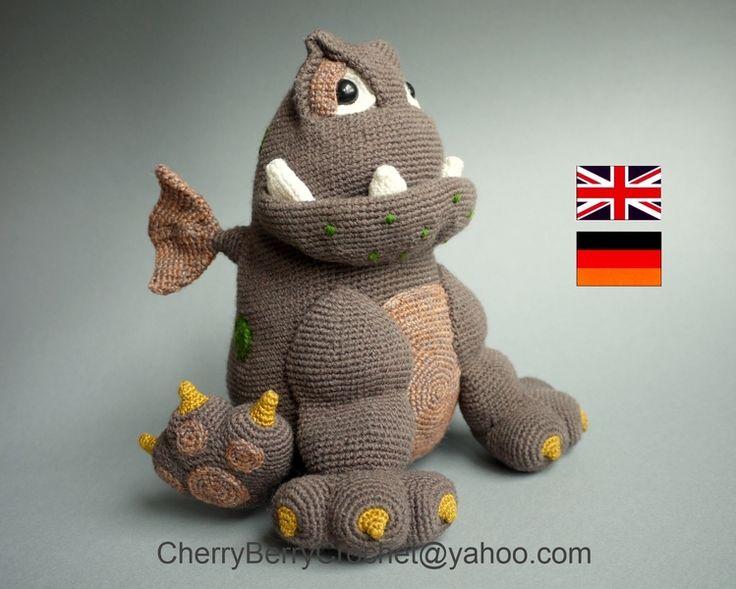 PDF-Datei Häkelanleitung Spielzeugdrache von Cherry Berry Crochet auf DaWanda.com