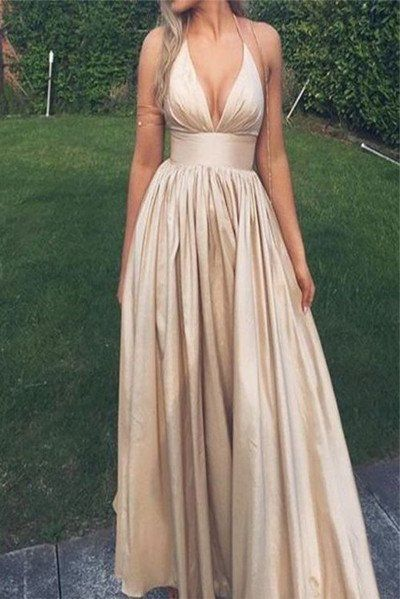 Hater V Neck Lengthy Elegant Promenade Gown Night Robes Occasion Attire LD246